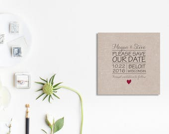Wedding Save the Date Square