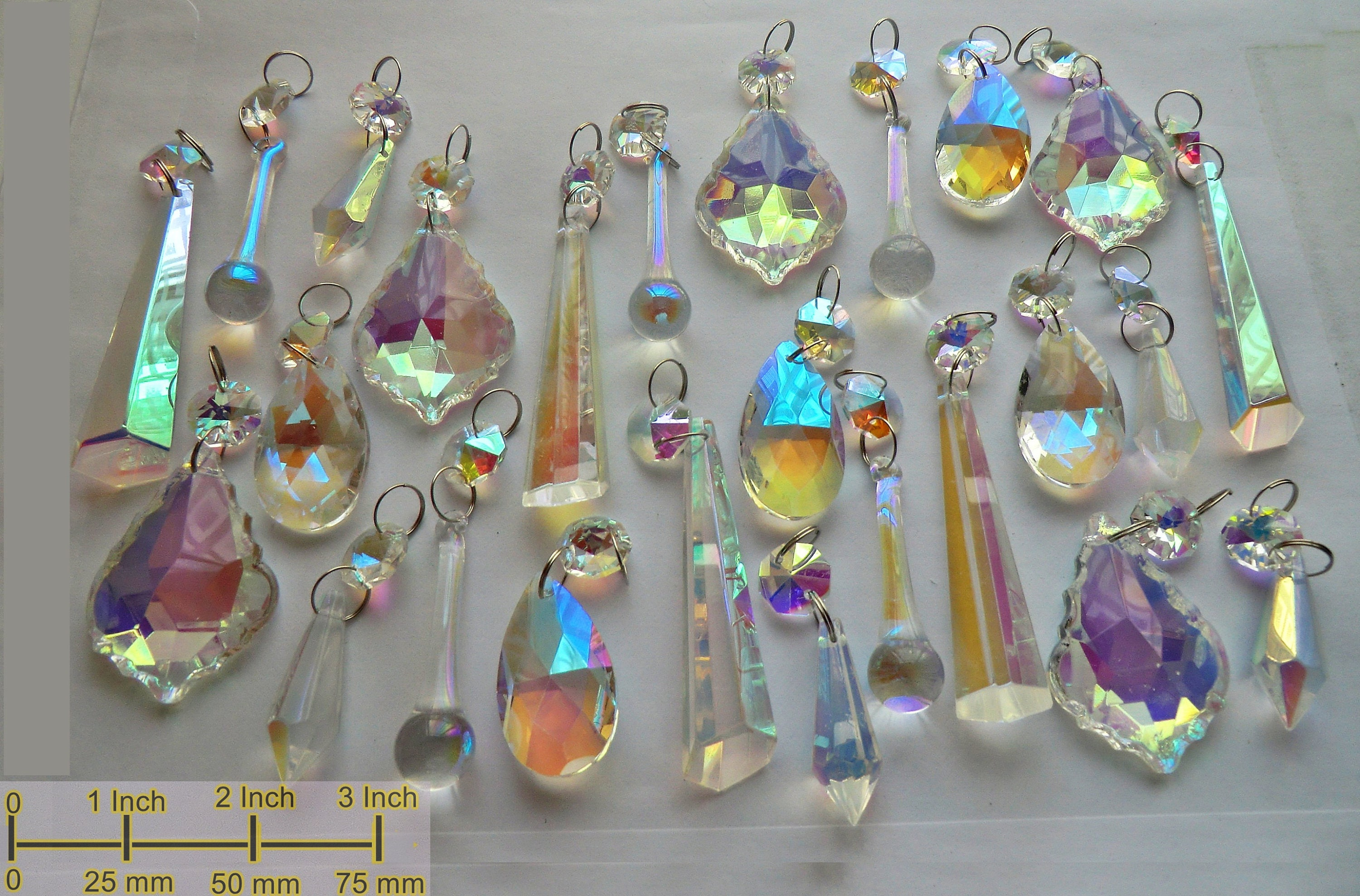 Aurora Borealis Ab Chandelier Drops Glass Crystals