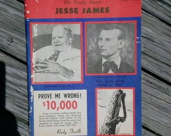 1967 The Truth About Jesse James book