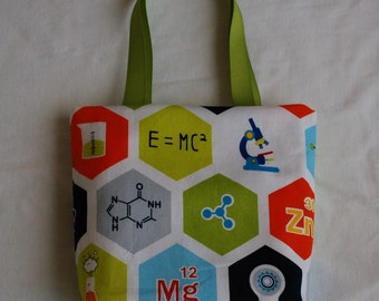 Science Fabric Gift Bag- Chemistry Hexagons