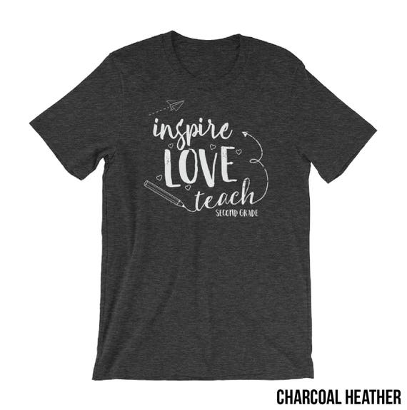 "Second Grade ""Inspire Love Teach"" Teacher Tshirt 