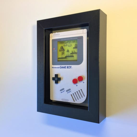 Super Mario Land Nintendo Game Boy Shadowbox Art Sculpture Diorama 4x6