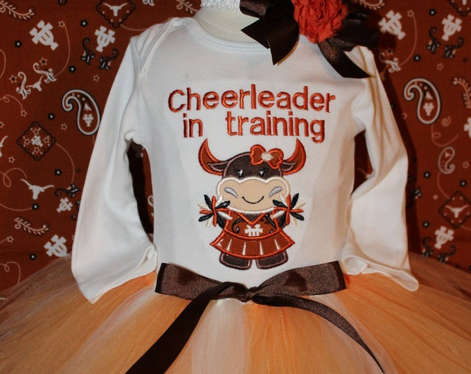 Baby girl Texas Longhorns outfit, Football outfit for girls,University of Texas,Cheerleader,Longhorn outfit,Baby shower gift,Texas bodysuit
