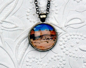 Arches National Park Necklace with Glass Cabochon Necklace Photo Jewelry Nature Jewelry Nature Necklace Landscape Photography