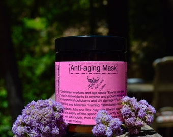Anti-aging Face Mask-Organic, rich in antioxidants, vitamins and minerals.