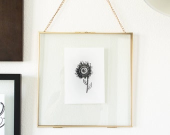 Fall Sunflower Illustrated Print
