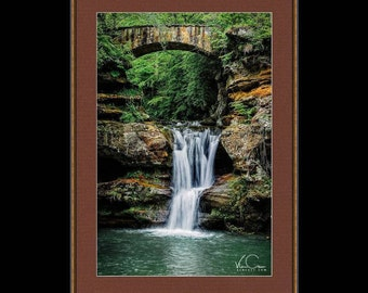Old Man Cave Area Upper Watefall Fine Art Print, Hocking Hills State Park, Ohio, Fine Art Photography, Wall Art, Wall Decor,