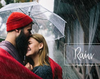 20 Rain Photo Overlays, Realistic rain, PNG files, Rain Textures, Rainy Weather, Raindrop, Autumn, Photography Overlay, Photoshop overlay