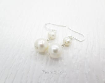 Fresh Water Pearl Sterling Silver Dangle Earrings