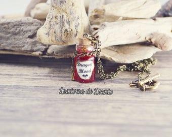 Dragon Blood Potion necklace / blood Dragon /Fiole