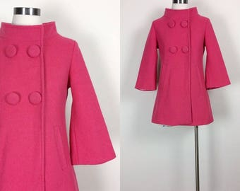 Vintage bright pink coat/jacket women's size S