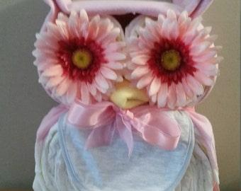 Owl Diaper Cake, Owl Baby Shower, Owl Baby Shower Ideas, Baby Owl Diaper Cake
