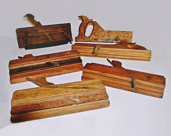 Vintage Antique Wood Molding Tools, 5+ Wood Molding Planes