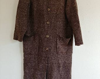 Vintage Wool Sweater Duster