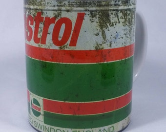 Old Oil Can Template #02 Castrol