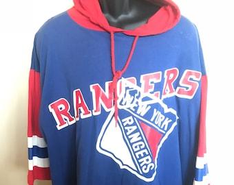 80s New York Rangers Hoodie Shirt Vintage Tee Hockey Jersey NHL Playoffs Rare Retro Classic Logo