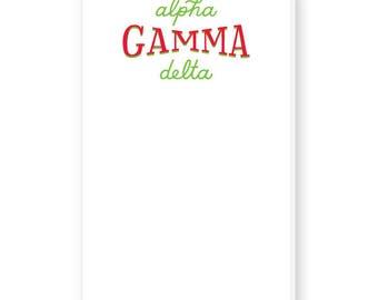 ALPHA GAMMA DELTA Hand-Lettered Notepad