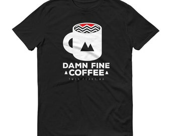Twin Peaks Damn Fine Coffee T-Shirt David Lynch Vintage Hipster Tee for Men and Women