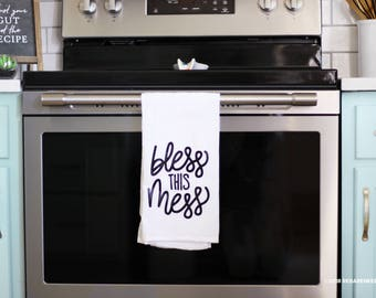 Bless This Mess Kitchen Tea Towel