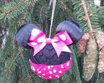 3 Inch Minnie Mouse Ornament- Made to Order
