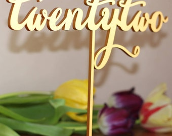 Table Numbers for Wedding - Gold Table Numbers - Freestanding with base - Wedding Table Number- Table Numbers - Freestanding