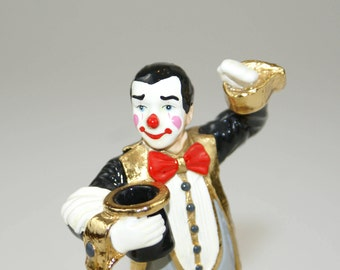 "1996 ""Top Hat and Tail"" Ron Lee Clown Figurine 