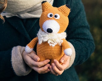 Plush Fox, Mr.Fox, Crochet Fox, Stuffed Fox, Cunny Fox