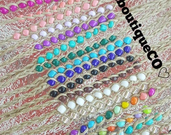 New! Handmade 10 Beads Beaded Hemp Wish Bracelet... You choose the color!