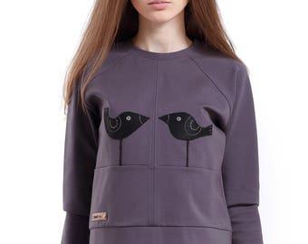 """Sweatshirt """"Black birds"""""""