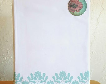 BoundEra White and Blue Floral Patterned Homemade and Homebound Journal