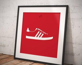 Adidas Gazelle OG Print Red