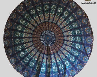 Blue tapestry Hippie Bed Cover Wall tapestries Boho Wall Decor Bedroom Decor Boho Tapestry Mandala Boho Decor Bedroom Tapestry Flower Art