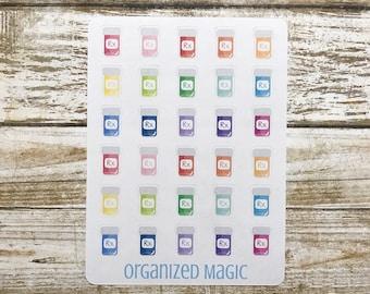 prescription planner stickers, pill planner stickers, medication stickers, pharmacy stickers