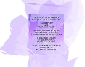 Watercolor Wedding Invitations + Response Cards + Envelopes