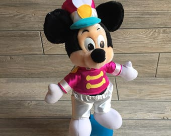 Mickey Mouse Plush Drum Major from Disneyland