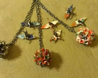 Origami Necklace and Jewelry Set