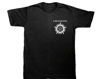 Supernatural shirt, Sam Winchester shirt , Black Shirt