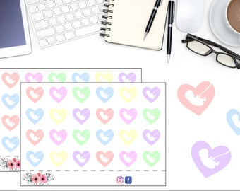 Baby Tracker Doctor Appointment Planner Stickers, Ultrasound Reminder Sticker, Planner Accessories, Baby Planning Stickers, Design #2