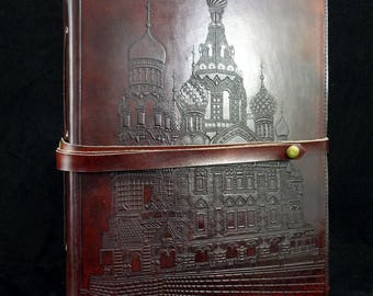 Large Handmade Leather Guest Book, Wedding Album – Church of the Spilled Blood