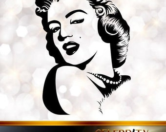 Marilyn Monroe Silhouette, artist silhouettes, celebrity silhouette, famous people