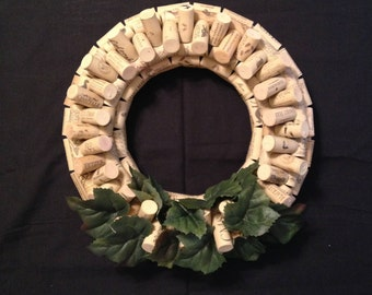 Wine Cork Wreath - Synthetic Corks - Handmade