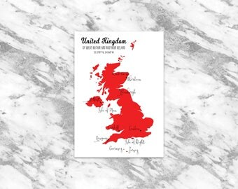 United Kingdom Map DIGITAL FILE | Custom Map Art | Great Britain Map | UK Map | U.K. Map | England Map | Northern Ireland Map | Scotland Map