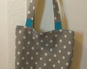 Polka-dot Canvas Monogrammed Tote/Accessory Beach Bag