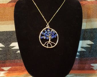 Tree of Life Pendant with Lapis Lazuli