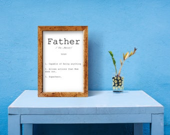 printable father art, father definition, dad definition print, dad definition, father from daughter, definition print, dad printable