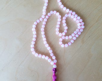 Rose Quartz Meditation Mala