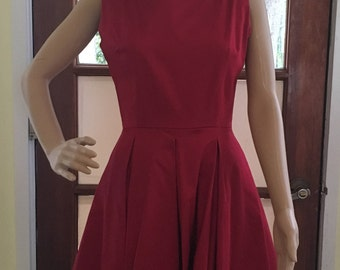 1940 Pin Up Style Red Dress