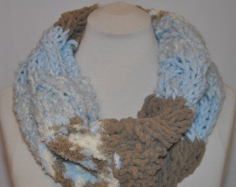 READY TO SHIP/ Knit Cowl, Knit Scarf, Chunky Cowl, Chunky Scarf, Pastel Colours, Christmas Gift, Gift For Her