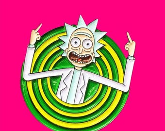 Rick And Morty Pin, Rick Sanchez Pin, Rick And Morty Enamel Pin, Rick And Morty Show, Enamel Pin, Cosplay