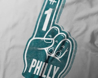 Philly Football Number 1 Foam Finger Short-Sleeve Unisex T-Shirt